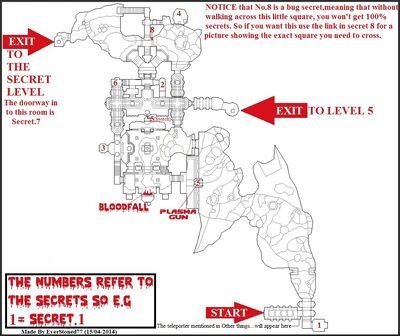 Secrets Map (Doom II - No Rest For Living - Map.04)