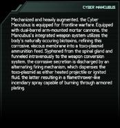 Cyber Mancubus Codex Entry