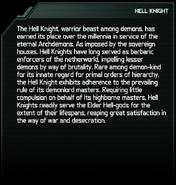 Hell Knight Codex Entry