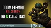Doom Eternal - All Collectibles On Hell On Earth (Cheat Code, Figures, Upgrades,..