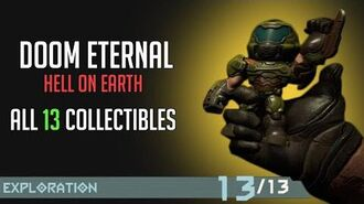Doom Eternal - All Collectibles On Hell On Earth (Cheat Code, Figures, Upgrades,...)