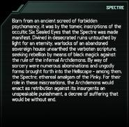 Spectre Codex Entry