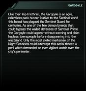 Gargoyle Codex Entry
