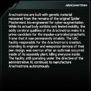 Arachnotron Codex Entry