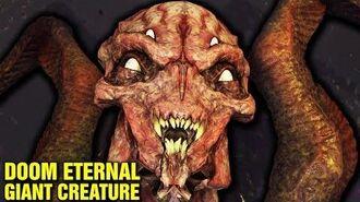 DOOM ETERNAL LORE - GIANT CREATURE ON URDAK - WHO IS THE FIRST KHAN MAYKR?