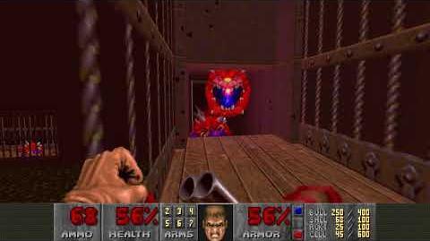 Doom II (1994) - MAP26 The Abandoned Mines 4K 60FPS