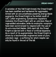 Dread Knight Codex Entry