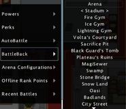 Arena BattleBackMenu
