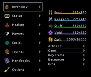 Menu Inventory