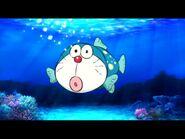 Doraemon giống cá nóc