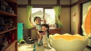 Stand by Me Doraemon Chapter 4 Shizuka hugs Dekisugi