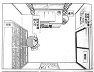 Nobita room bird's eye view