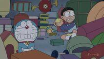 Doraemon and Nobita panic
