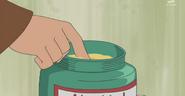 Nobita about to use Abeko Cream