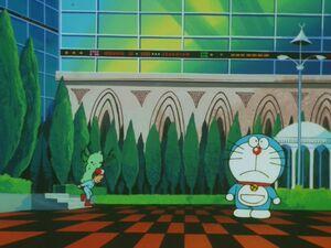 哆啦A夢出現在21衛門裡面