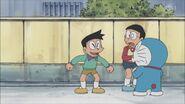 Suneo happy with Nobita and Doraemon