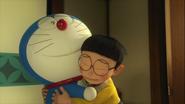 Stand by Me Doraemon Chapter 9 Doraemon hugs Nobita