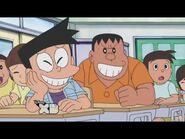 Suneo and Gian smirking