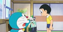 Doraemon show the pliers of the lost cat