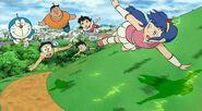 F0gyunzm from the left Doraemon, Nobita, Giant, Suneo, Shizuka, Sophia
