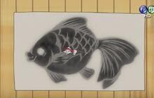 瞬間魚拓用紙實際使用