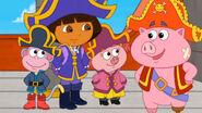 Dora Boots Pirate Pig and Little Piggy