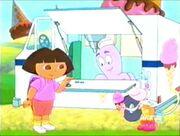 Dora getting ice cream