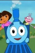 Dora and boots with azul the blue train