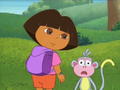 Dora asks the viewers to get something from Backpack