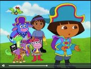Dora The Explorer Pirate Dora and her friends