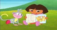 Dora reading wizzle book