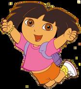 Dora cheering