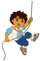 Diego on rope