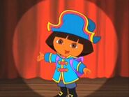 Pirate Dora in the spotlight