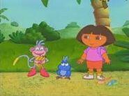 Dora,boots,and baby blue bird