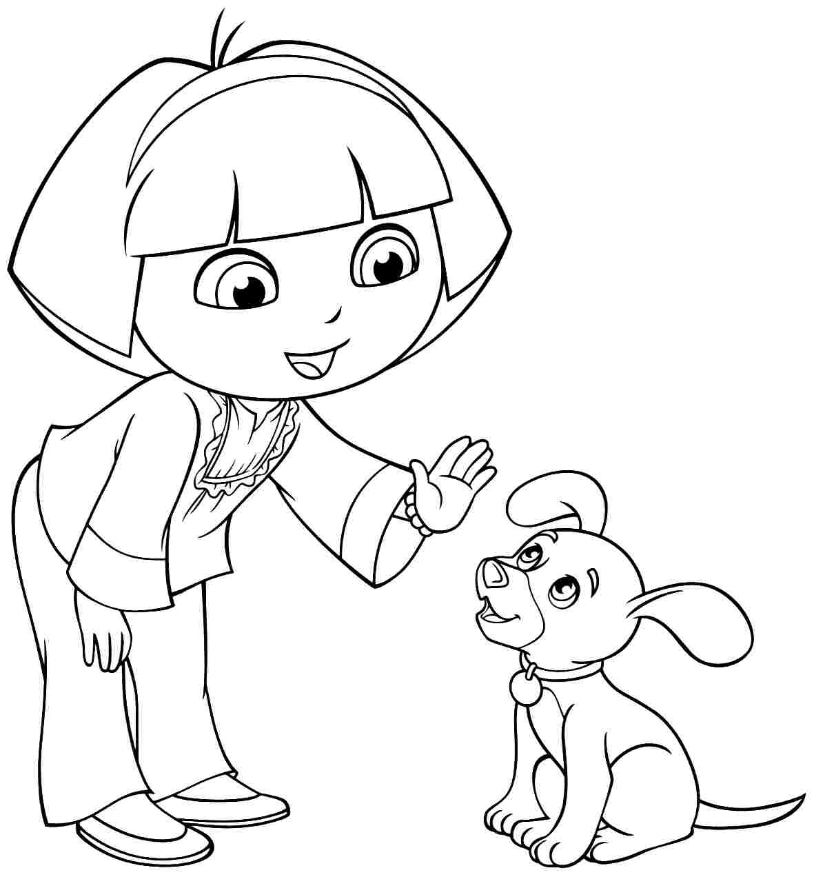 Image - Cartoon-dora-the-explorer-and-friends-coloring-pages-for ...