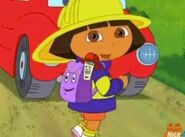 Dora The Explorer Firefighter Dora Backpack and Map