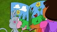 Dora reading a book