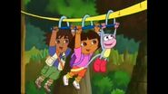 Dora, Boots, and Diego zip lining