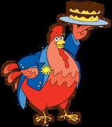 Dora-Big-Red-Chicken-fiesta-cake-stock-art