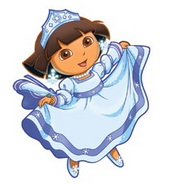 Snow princess dora