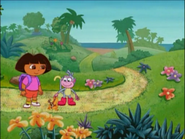 Dora and Boots don't look at the viewer