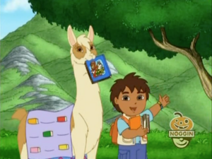 Diego and Linda after finding books