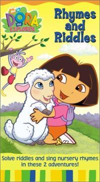 Dora-explorer-rhymes-riddles-kathleen-herles-vhs-cover-art