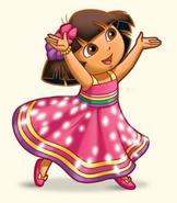 Dora crystal empire dress