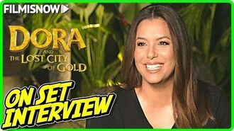 "DORA AND THE LOST CITY OF GOLD Eva Longoria ""Elena"" On-set Interview"