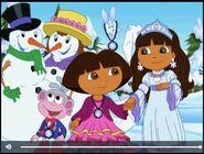 Dora The Explorer Dora Saves The Snow Princess Dora Boots Snow fairy and Snow Princess