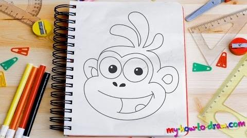 How to draw Boots from Dora - Easy step-by-step drawing lessons for kids