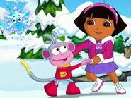 Dora and boots dancing
