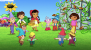 Dora and her fairytale friends